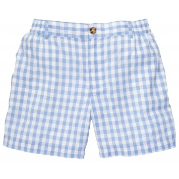 Seersucker Short: Blue and White